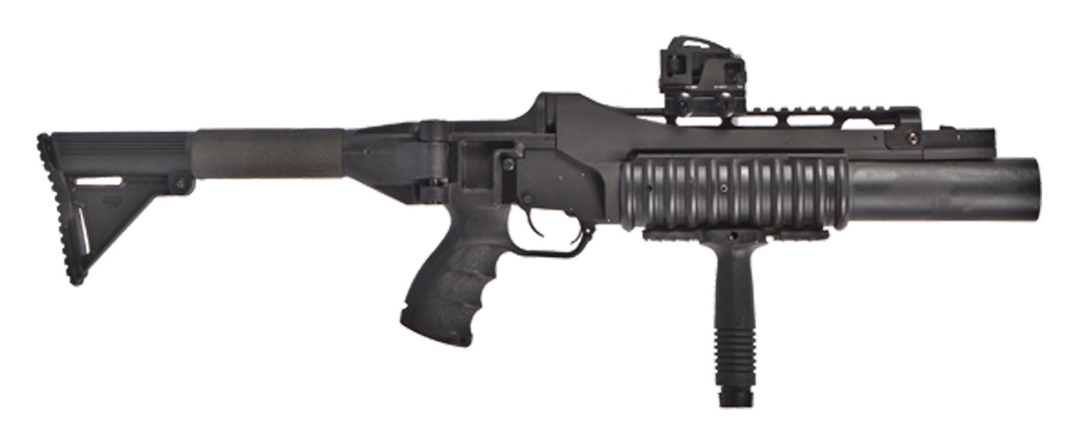 airtronic usa m203 40mm grenade launcher folding stock